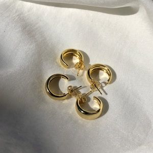 18k Gold plated little hoops